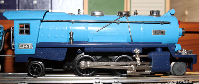 MTH 263E blue tinplate locomotive